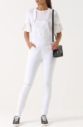 Приталенный джинсовый комбинезон Nine in the morning белый | Фото №1