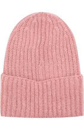 Женская вязаная шапка TAK.ORI розового цвета, арт. AC043 MW018PF17 | Фото 2 (Материал: Текстиль, Синтетический материал, Шерсть; Статус проверки: Проверена категория)
