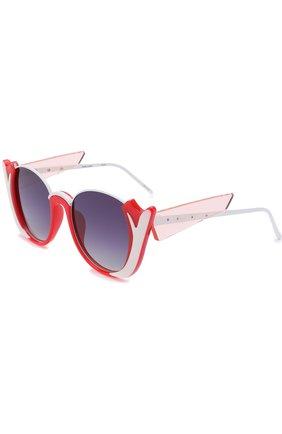Солнцезащитные очки Prabal Gurung красные | Фото №1