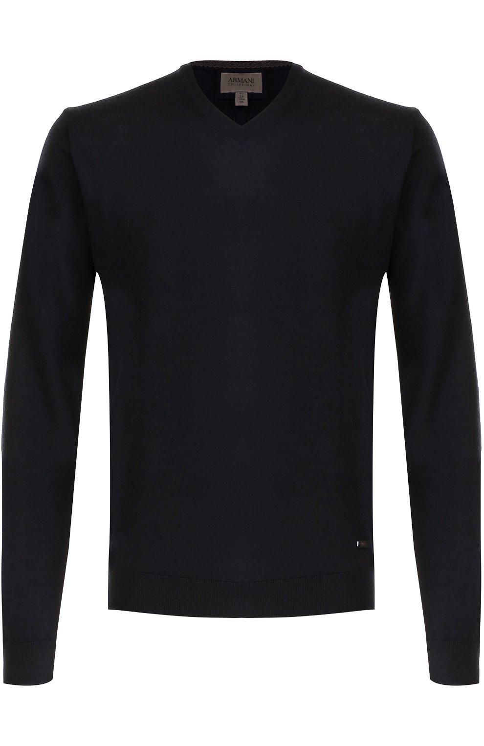 Шерстяной пуловер тонкой вязки | Фото №1