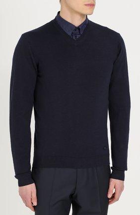 Шерстяной пуловер тонкой вязки | Фото №3