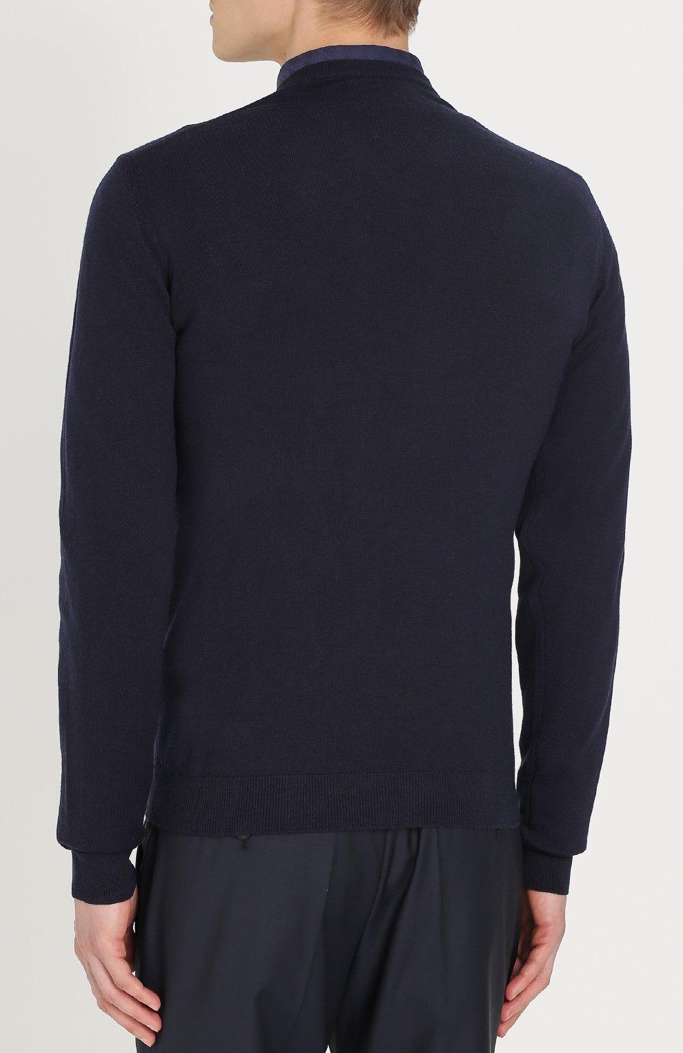 Шерстяной пуловер тонкой вязки | Фото №4