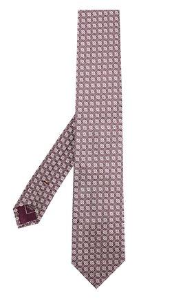 Мужской шелковый галстук с узором BRIONI розового цвета, арт. 061D/0640D | Фото 2