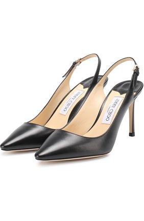 Женская кожаные туфли erin на шпильке JIMMY CHOO черного цвета, арт. ERIN 85/KID | Фото 1