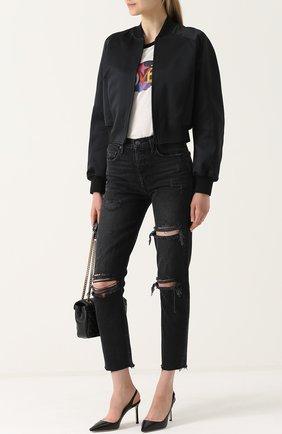 Женская кожаные туфли erin на шпильке JIMMY CHOO черного цвета, арт. ERIN 85/KID | Фото 2