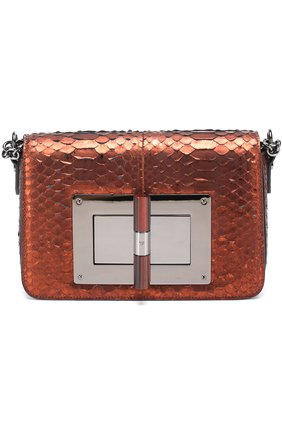 Женская сумка medium natalia из кожи питона TOM FORD бронзового цвета, арт. L0826R-P46   Фото 1