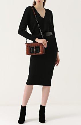 Женская сумка medium natalia из кожи питона TOM FORD бронзового цвета, арт. L0826R-P46   Фото 2