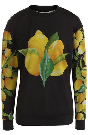 Пуловер с перфорированной спинкой и принтом Ultracor разноцветного цвета   Фото №1