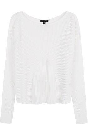 Пуловер фактурной вязки с вырезом-лодочка Rag&Bone белый | Фото №1