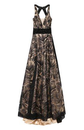 Платье-макси с подолом и открытой спиной Basix Black Label черное | Фото №1