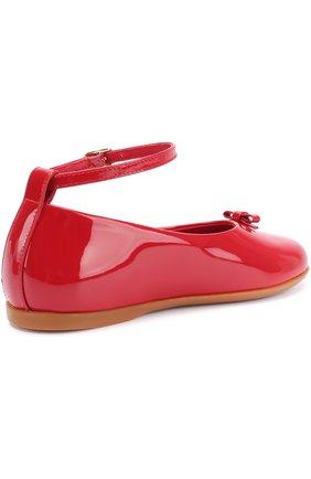 Лаковые туфли с бантом и ремешком на щиколотке | Фото №3
