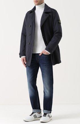 Шерстяной свитер с воротником-стойкой   Фото №2
