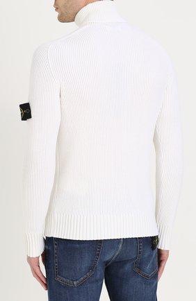 Шерстяной свитер с воротником-стойкой   Фото №4