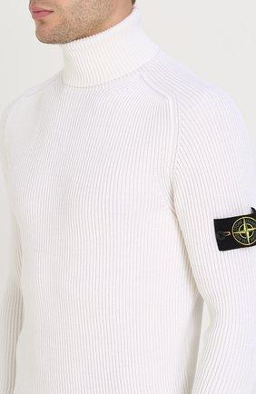 Шерстяной свитер с воротником-стойкой   Фото №5
