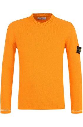 Шерстяной свитер с круглым вырезом   Фото №1