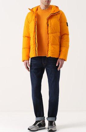 Шерстяной свитер с круглым вырезом   Фото №2