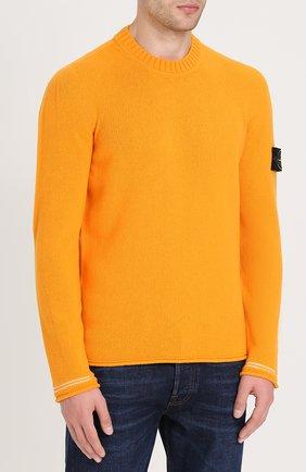 Шерстяной свитер с круглым вырезом   Фото №3