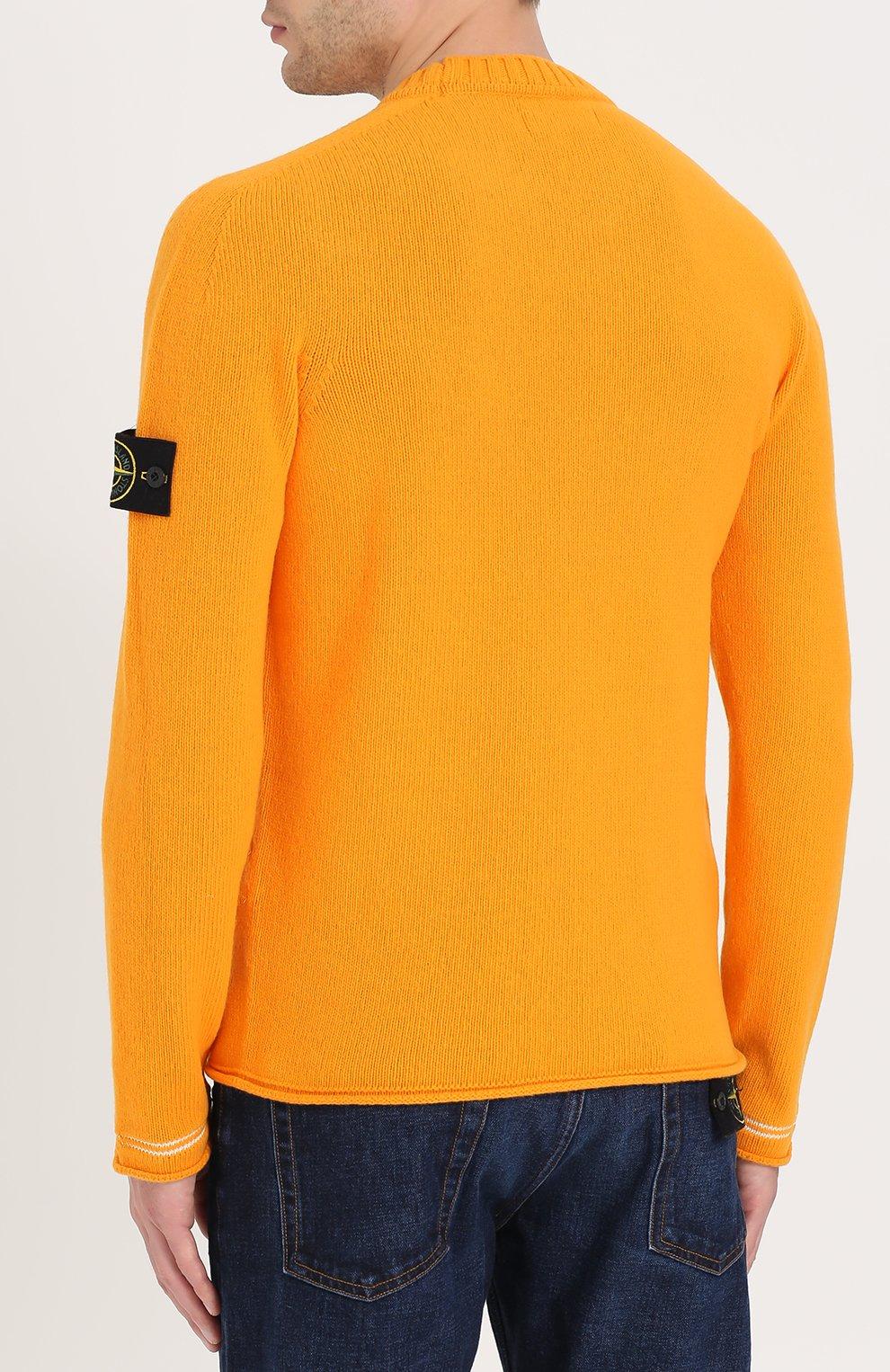Шерстяной свитер с круглым вырезом   Фото №4