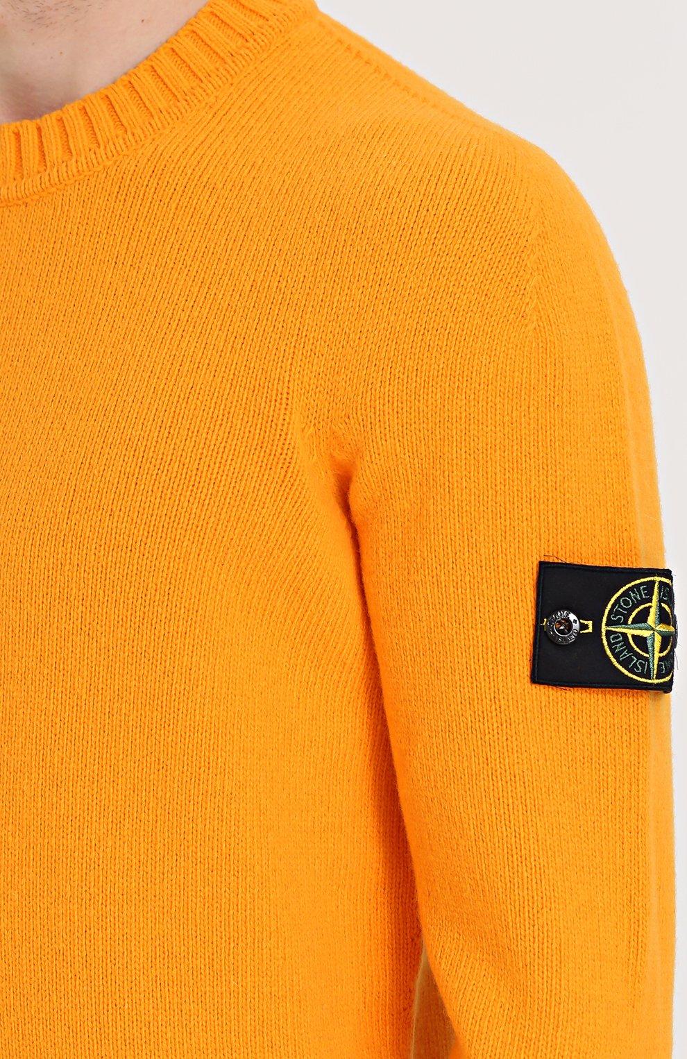 Шерстяной свитер с круглым вырезом   Фото №5