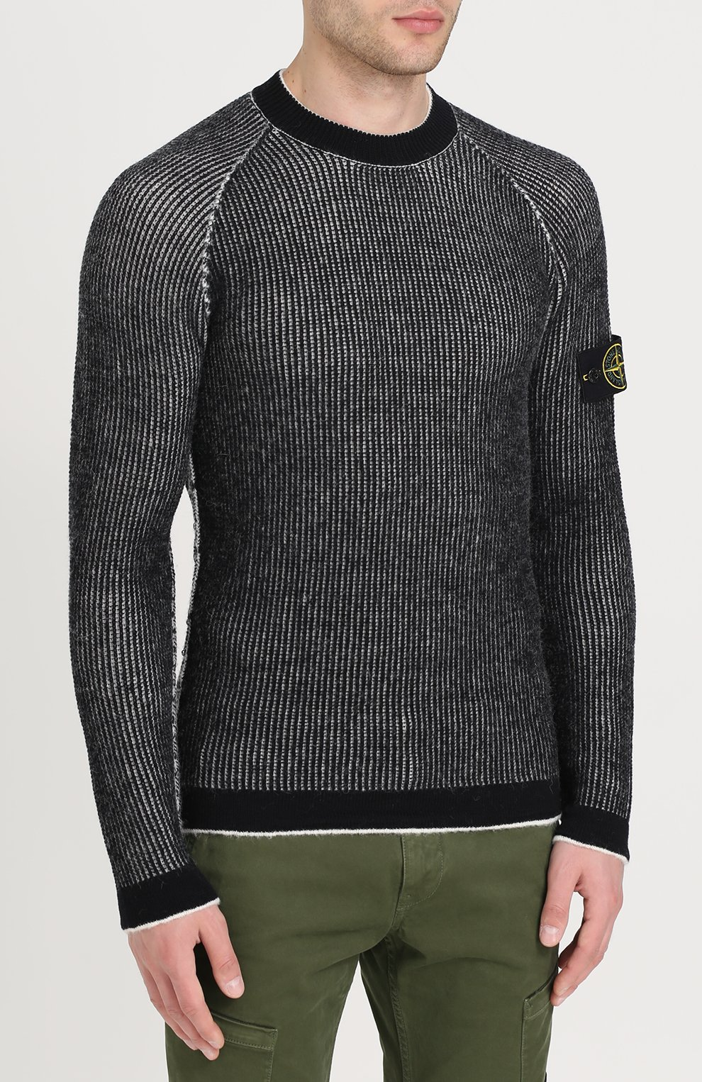 Шерстяной свитер с круглым вырезом | Фото №3