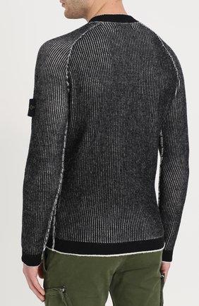 Шерстяной свитер с круглым вырезом | Фото №4