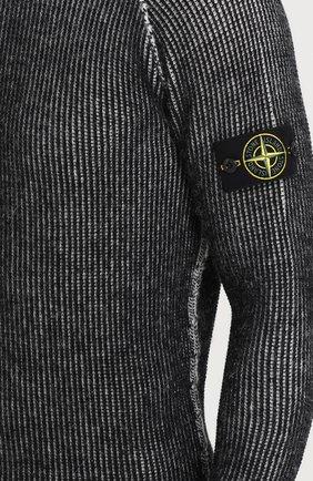 Шерстяной свитер с круглым вырезом | Фото №5