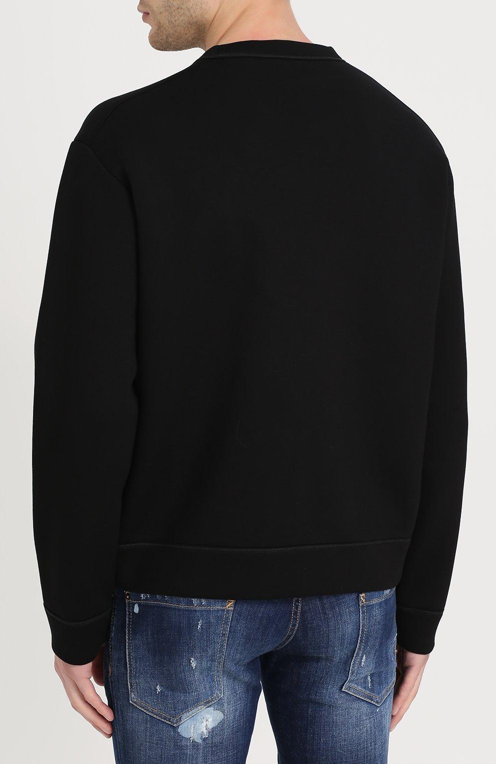 Джемпер из вискозы с контрастной вышивкой | Фото №4
