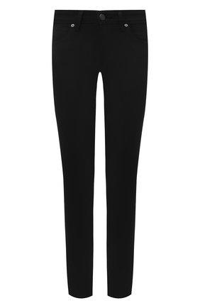 Женские однотонные джинсы-скинни BURBERRY черного цвета, арт. 3946595 | Фото 1
