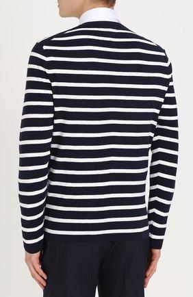 Джемпер из смеси шелка и хлопка в контрастную полоску | Фото №4