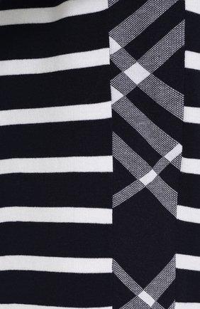 Джемпер из смеси шелка и хлопка в контрастную полоску | Фото №5