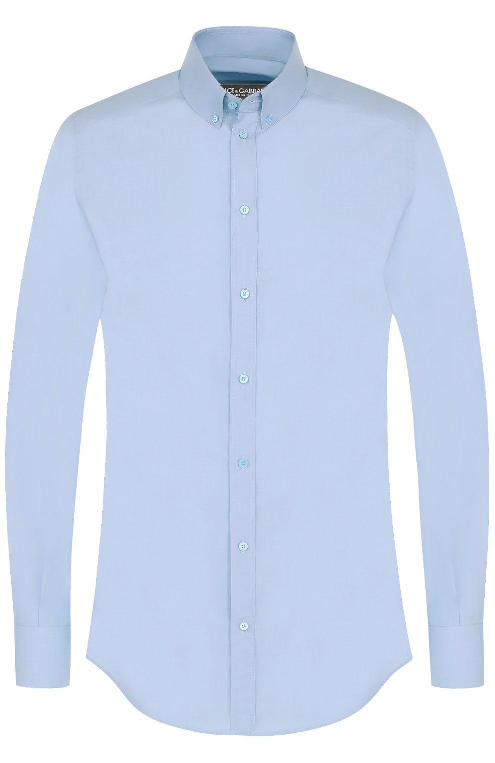 Хлопковая сорочка с воротником button down | Фото №1