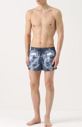 Плавки-шорты с принтом Dolce & Gabbana голубые | Фото №2