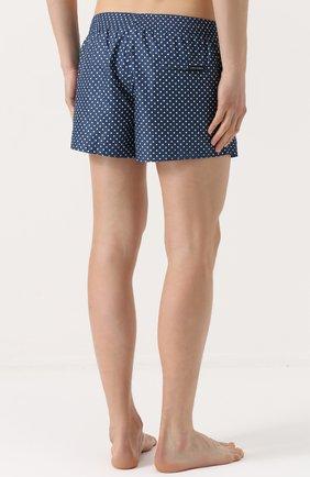 Плавки-шорты с принтом Dolce & Gabbana голубые | Фото №4