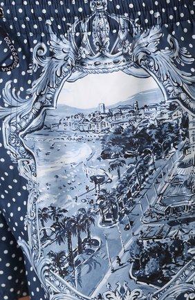 Плавки-шорты с принтом Dolce & Gabbana голубые | Фото №5