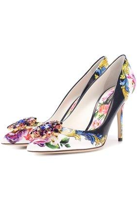 Кожаные туфли Bellucci с брошью | Фото №1