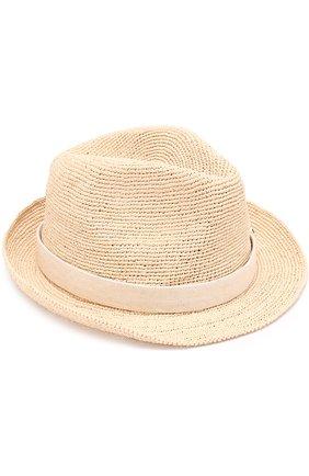 Пляжная шляпа из соломы с повязкой | Фото №1