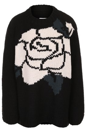 Пуловер свободного кроя с круглым вырезом | Фото №1