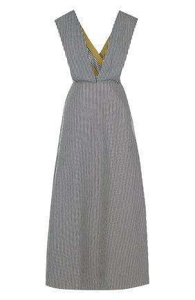 Приталенное платье-макси в полоску Walk of Shame черно-белое | Фото №1