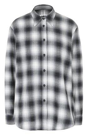 Блуза свободного кроя в клетку | Фото №1