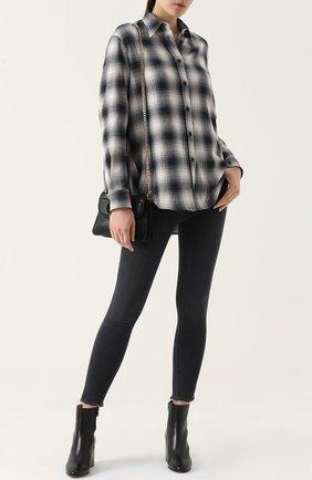 Женская блуза свободного кроя в клетку Mm6, цвет серый, арт. S32DL0180/S48026 в ЦУМ   Фото №1