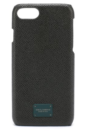 Мужской кожаный чехол для iphone 7 DOLCE & GABBANA темно-зеленого цвета, арт. 0115/BP2263/AI359 | Фото 1