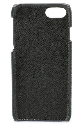 Мужской кожаный чехол для iphone 7 DOLCE & GABBANA темно-зеленого цвета, арт. 0115/BP2263/AI359 | Фото 2