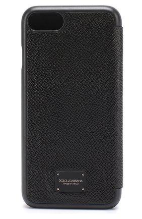Мужской кожаный чехол для iphone 7 DOLCE & GABBANA черного цвета, арт. 0115/BP2263/AI359 | Фото 1