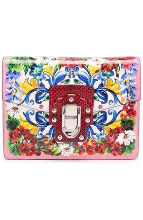 Сумка Lucia с принтом Dolce & Gabbana разноцветная цвета | Фото №1
