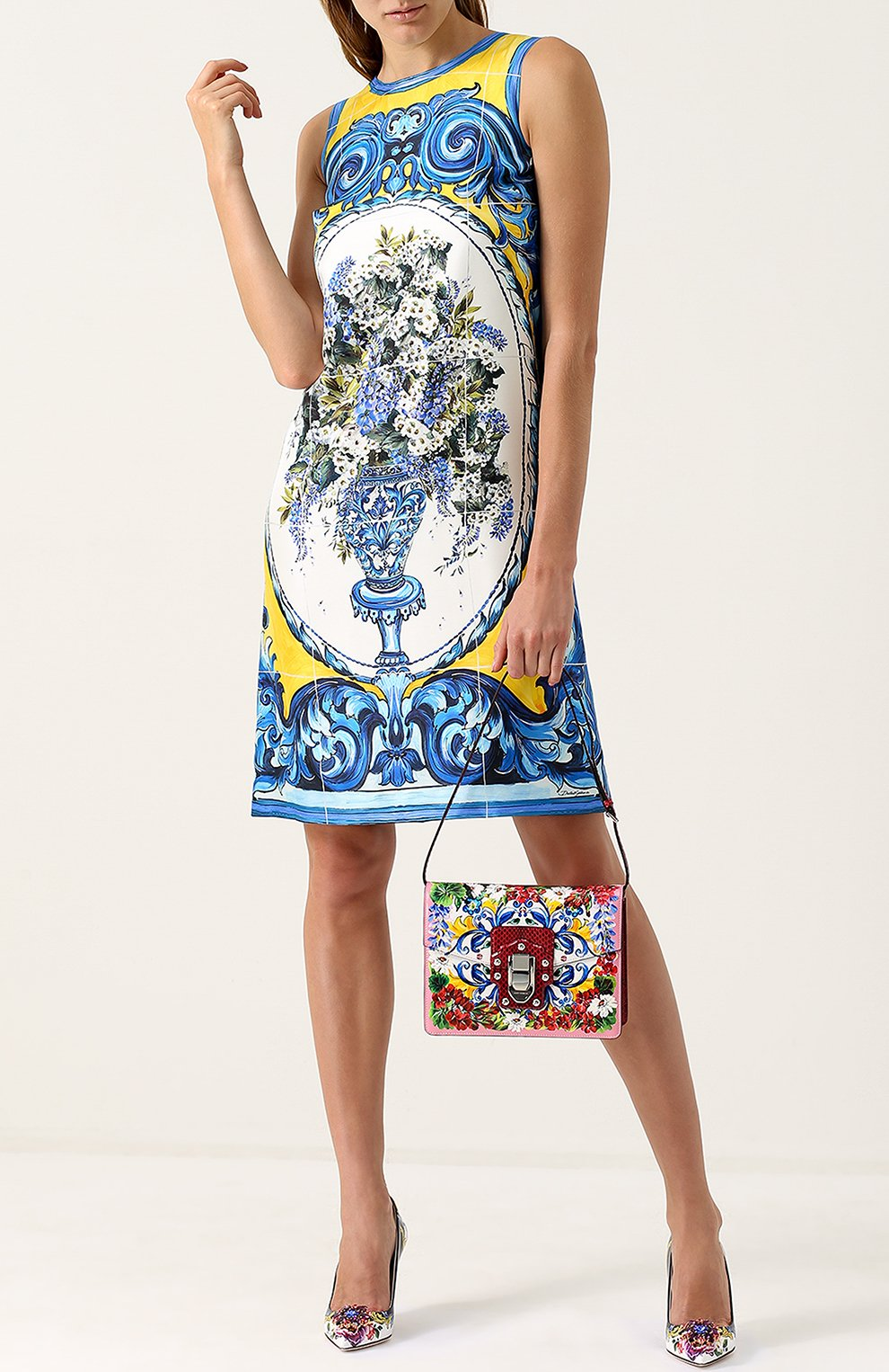 Сумка Lucia с принтом Dolce & Gabbana разноцветная цвета | Фото №2