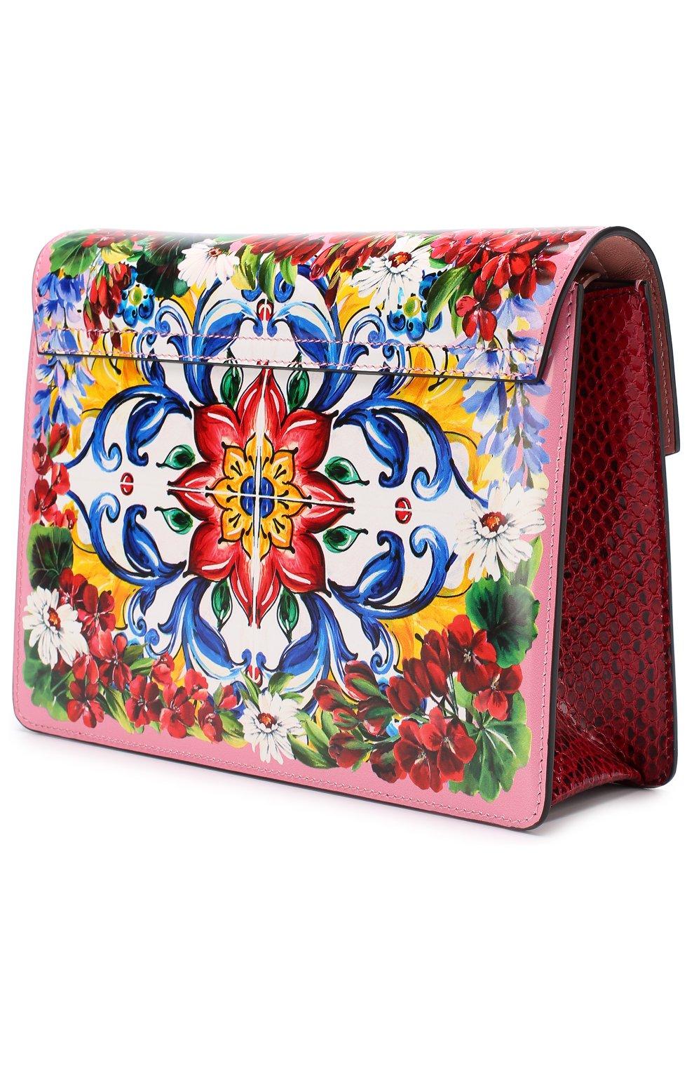 Сумка Lucia с принтом Dolce & Gabbana разноцветная цвета | Фото №3