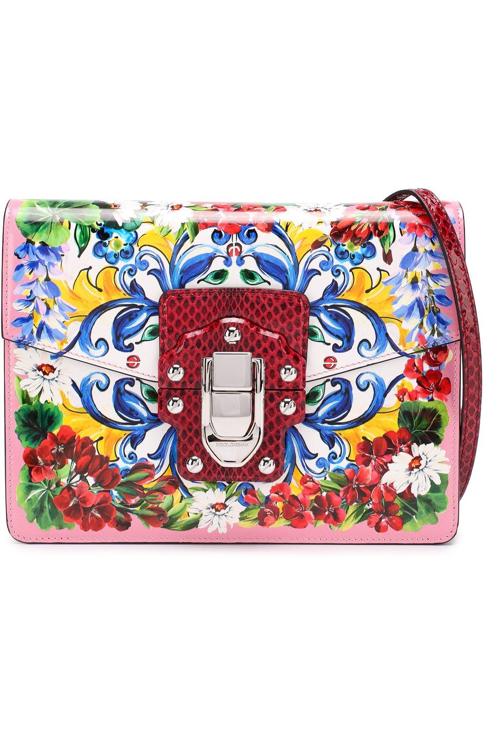 Сумка Lucia с принтом Dolce & Gabbana разноцветная цвета | Фото №5