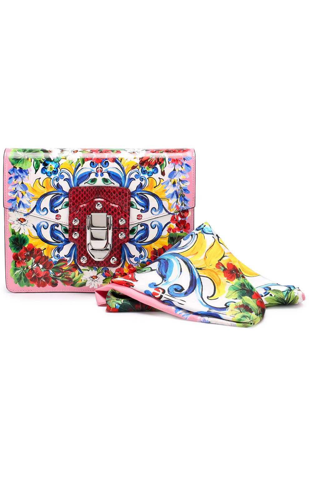 Сумка Lucia с принтом Dolce & Gabbana разноцветная цвета | Фото №6