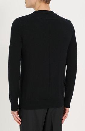 Кашемировый джемпер с логотипом бренда | Фото №4