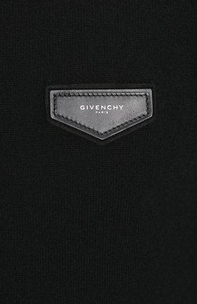 Кашемировый джемпер с логотипом бренда | Фото №5